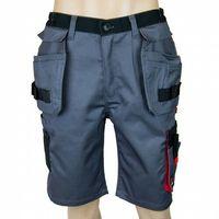 Kombinezony i spodnie robocze, Spodnie krótkie AVACORE LENNOX szaro czarne z czerwonymi elementami