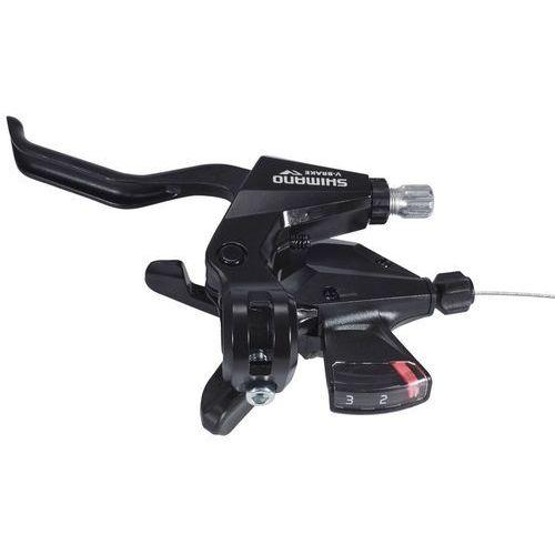 Dźwignie hamulcowe do rowerów, Shimano ST-M310 Dźwignia hamulca / przerzutki potrójne lewe, black 2020 Dźwignie hamulców tarczowych