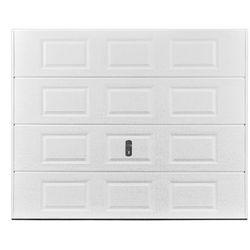 Brama garażowa segmentowa z kasetonami SPEOS biała