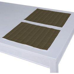 Dekoria Podkładka 2 sztuki, zielona prążkowana tkanina, 30x40 cm, Wyprzedaż do -30%