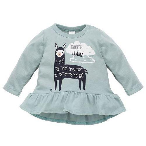 Tuniki dla dzieci, PINOKIO tunika dziewczęca Happy Llama 74 zielona