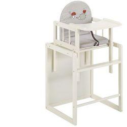 Krzesełko do karmienia HUGO - drewno - kolor biały - Rośnie razem z dzieckiem