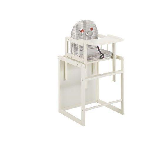 Krzesełka do karmienia, Krzesełko do karmienia HUGO - drewno - kolor biały - Rośnie razem z dzieckiem