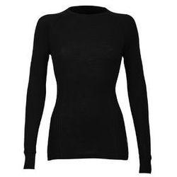 Koszulka damska z wełny merynosów (100%) - sportowy fason - długi rękaw, wysoki dekolt, dłuższy tył, dopasowana - DILLING