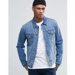 ASOS Denim Jacket In Mid Blue Wash - Blue