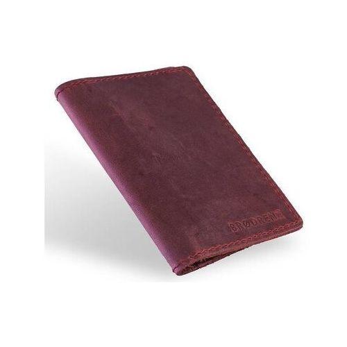 Portfele i portmonetki, Slim wallet brodrene sw05 super cienki portfel ze skóry czerwony