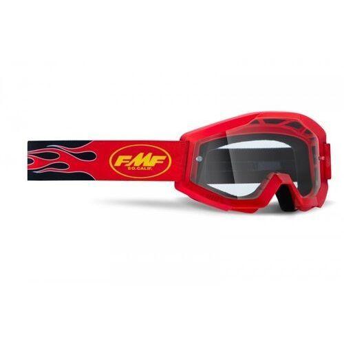 Gogle i okulary motocyklowe, Fmf gogle powercore flame red szyba clear