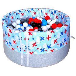 Suchy basen z piłeczkami dla dzieci BabyBall samoloty