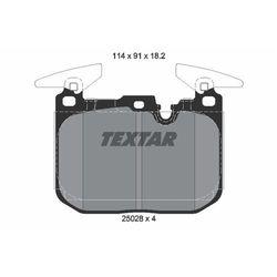 Zestaw klocków hamulcowych, hamulce tarczowe TEXTAR 2502801