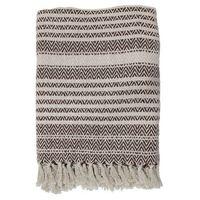 Narzuty, HKliving Narzuta z bawełny z brązowymi zigzag'ami (130x170) TTS1006