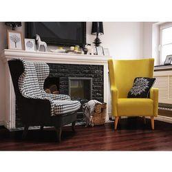 Fotel w pepitkę - fotel wypoczynkowy - do salonu - tapicerowany - MOLDE