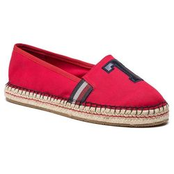 Espadryle TOMMY HILFIGER - Patch Espadrille FW0FW03846 Tango Red 611