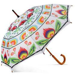 Parasol Folk Biały Duży