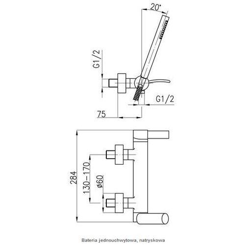 Baterie do pryszniców, Bateria KFA Malachit 4406-510-00