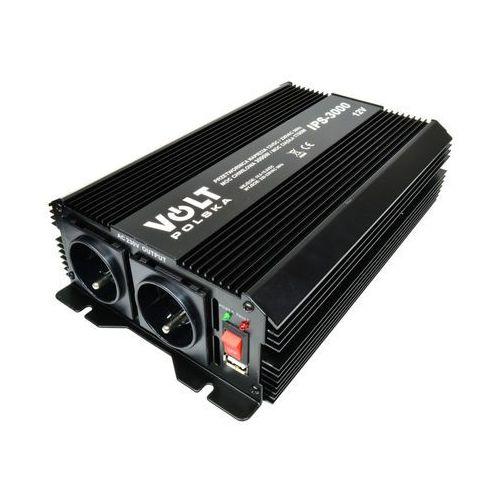 Przetwornice samochodowe, VOLT IPS 3000 12V przetwornica napięcia 1700W/3000W 12V/230V