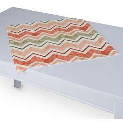Dekoria Serweta 60x60 cm, zygzaki terrakota z oliwką na białym tle, 60 × 60 cm, Acapulco