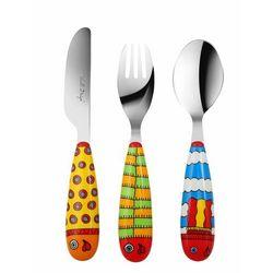 Komplet sztućców dziecięcych Vialli Design Lol 3 szt