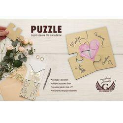 Puzzle - zaproszenia ślubne dla świadków - cyfrowy druk UV - ZAP012