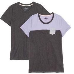 Shirt z krótkim rękawem (2 szt.) bonprix antracytowy melanż - bez