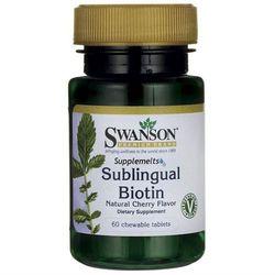 Biotyna 2500mcg Sublingual Biotin 60 tabletek do ssania SWANSON
