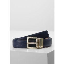 Trussardi Jeans REVERSIBLE BELT Pasek blue navy/beige