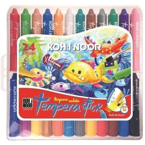 Kredki, Kredki woskowe wykręcane Tempera Stick 24 kolory