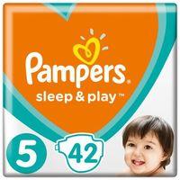 Pieluchy jednorazowe, Pampers Sleep & Play Economy 5 Junior (11-16 kg) 168 szt. (4x42 szt.)