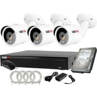 Zestawy monitoringowe, Plug&Play Zestaw do monitoringu IP Rejestrator LV-NVR4415S-4P + 3x Kamera LV-IP2M3TFE + 1TB