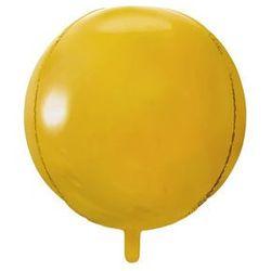 Balon foliowy kula złoty - 40 cm - 1 szt.