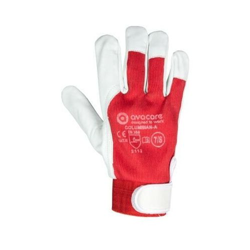 Rękawice ochronne, Rękawice robocze techniczne skóra kozia licowa COLUMBIAN- AP ASEMBLY kategoria II