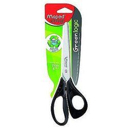 Nożyczki Essentials Green 21cm, asymetryczne, Maped 468110