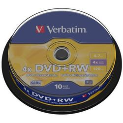 Verbatim DVD+RW 4x 4.7GB 10 szt. Cake