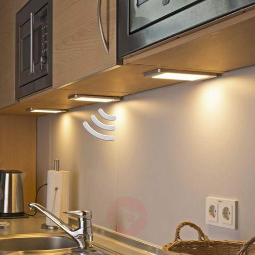 Lampki meblowe, Zestaw 3 opraw podszafkowych Sascha z czujnikiem