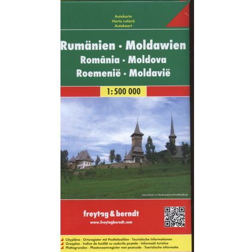 Mapy i atlasy turystyczne, Rumunia, Mołdawia 1:500 000. Mapa samochodowa, składana. Freytag&Berndt (opr. broszurowa)