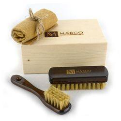 Margo MGS1-1, firmowy 3-el. zestaw do pielęgnacji obuwia w drewnianym pudełku