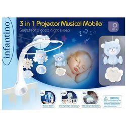 Muzyczna karuzelka Infantino 3w1 niebieska. Darmowy odbiór w niemal 100 księgarniach!