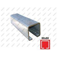 Przęsła i elementy ogrodzenia, Profil do bramy przesuwnej Zn, 78x78x4mm, L3m