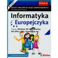 Informatyka, Informatyka Europejczyka. Zeszyt ćwiczeń do zajęć komputerowych dla szkoły podstawowej, kl (opr. miękka)