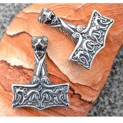 Zawieszka wikingów młot Thora, Oseberg, Norwegia srebro Ag 925 SBR262