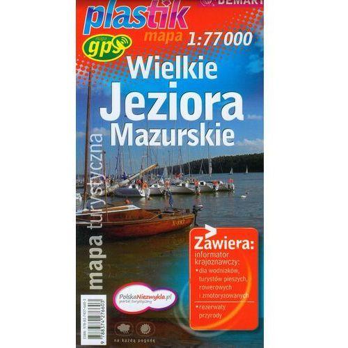 Mapy i atlasy turystyczne, Wielkie Jeziora Mazurskie mapa turystyczna