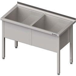 Stół z basenem dwukomorowym STALGAST 1600x600x850 h 400mm 981386160