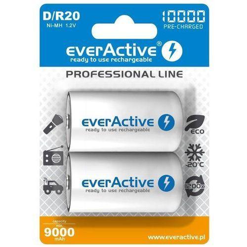 Pozostałe zasilanie do aparatów, Akumulatorki D/R20 everActive Professional Line 10000 mAh 2 sztuki