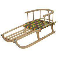 Sanki, Sanki drewniane siedzisko parciane z oparciem