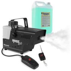 Beamz Rage 600, wytwornica mgły, z fluidem do wytwarzania mgły, 600 W, 65 m³/min, 0,5 l