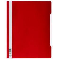 Skoroszyt A4 z przezroczystą okładką standardowy z PVC, czerwony, Durable