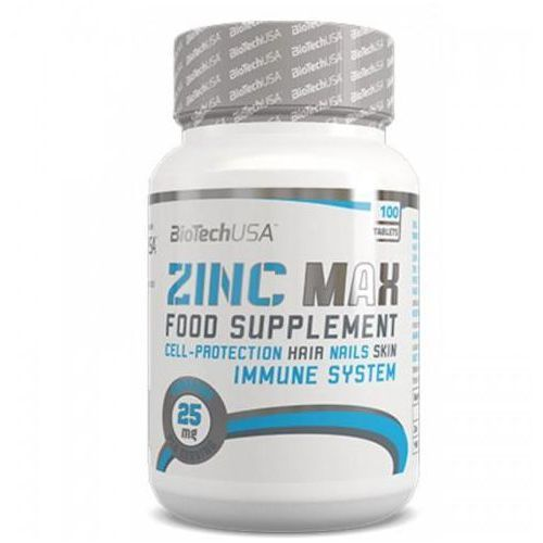 Witaminy i minerały, BioTech Zinc Max 100 tabletek