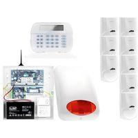 Zestawy alarmowe, ZA12547 Zestaw alarmowy DSC 8x Czujnik ruchu Manipulator LCD Powiadomienie GSM
