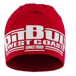 Czapka Pit Bull Beanie CLASSIC BOXING Czerwona - Czerwony