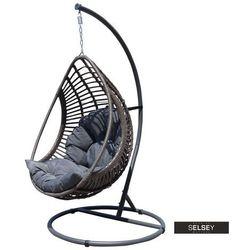 SELSEY Fotel wiszący ogrodowy Noler kokon bujany szary
