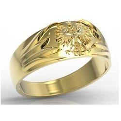 Sygnet złoty z orłem INSIGNE SJ-13Z